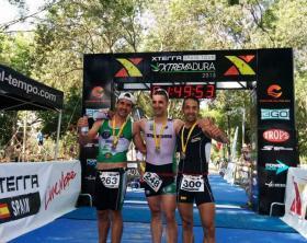 Carlos Rebate campeón Open de Triatlón de Extremadura